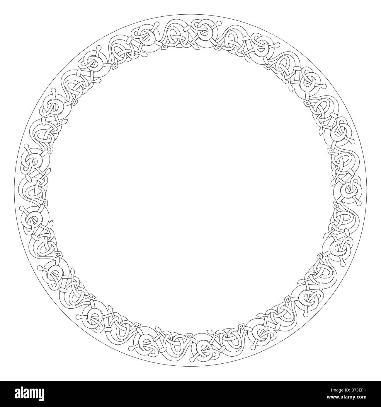 Celtic Knot decorative border - Stock Image