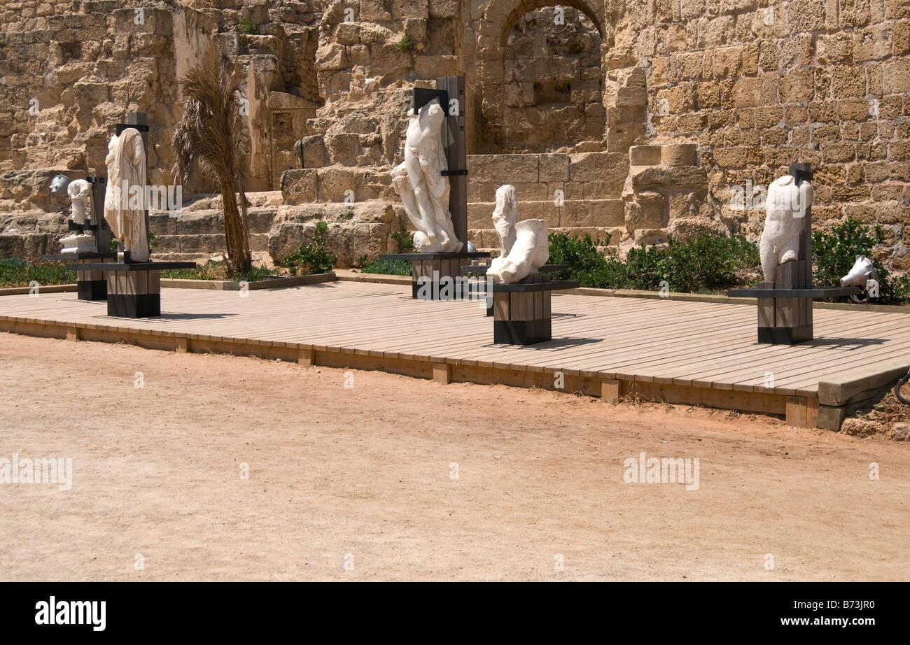 Roman ancient statuary,Caesarea National Park,Israel - Stock Image