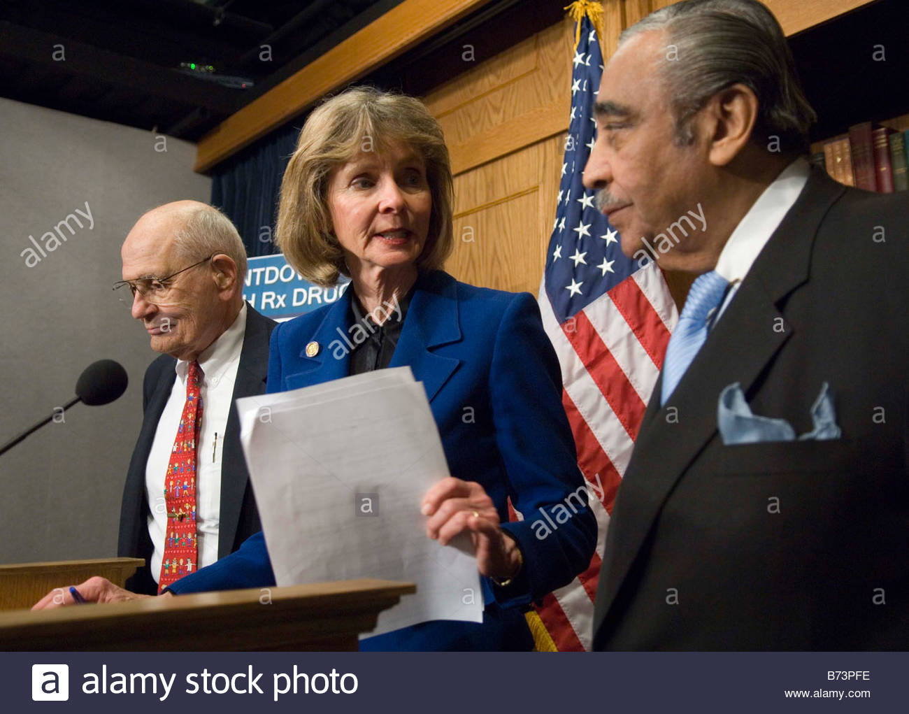 04 06 06 House Energy And Commerce Ranking Democrat John D Dingell D Mich  Rep Lois Capps D Calif And House Ways And Means Rankin