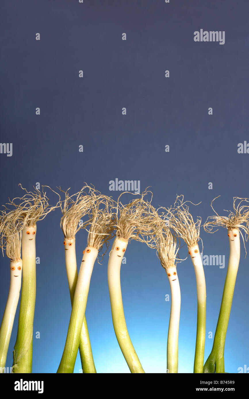spring onion on party - Stock Image