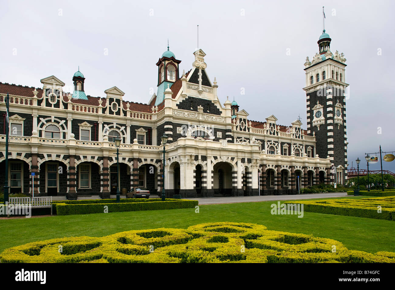 New Zealand, South Island, Dunedin, Railway station. - Stock Image