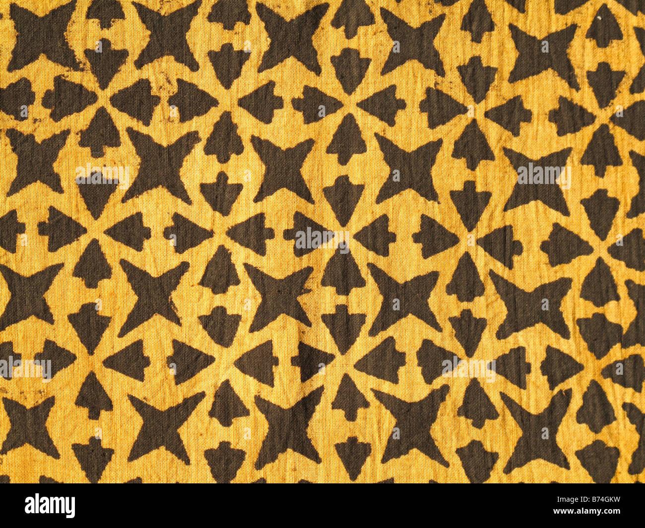Handspun fabric from Mali Stock Photo