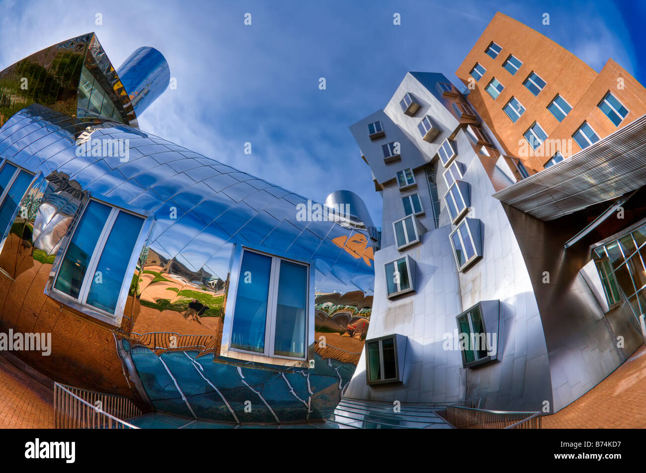 Stata Center, MIT campus, Boston, MA.  Frank Gehry designed building.  HDR image - Stock Image
