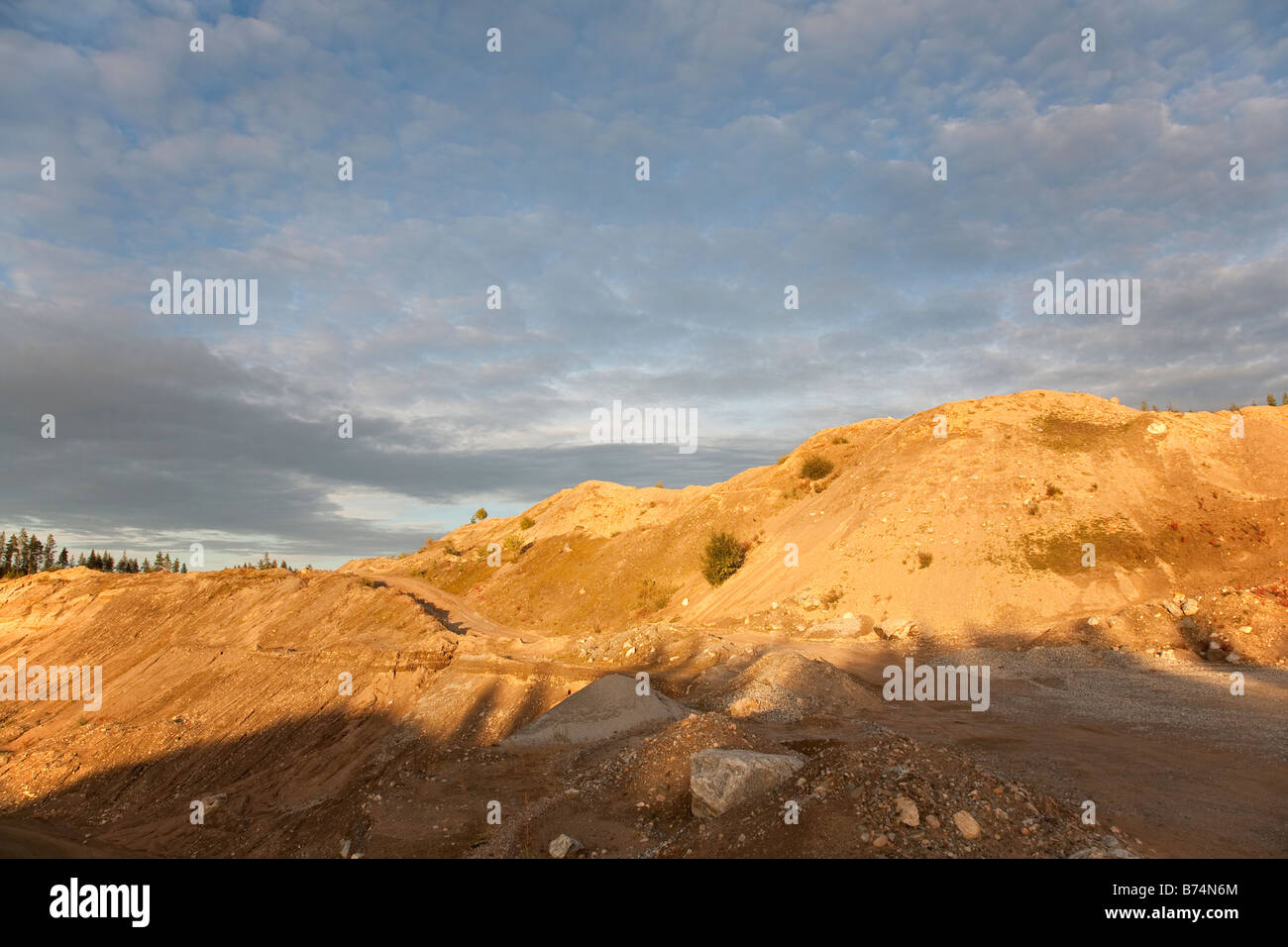 Gravel pit wall , Finland - Stock Image