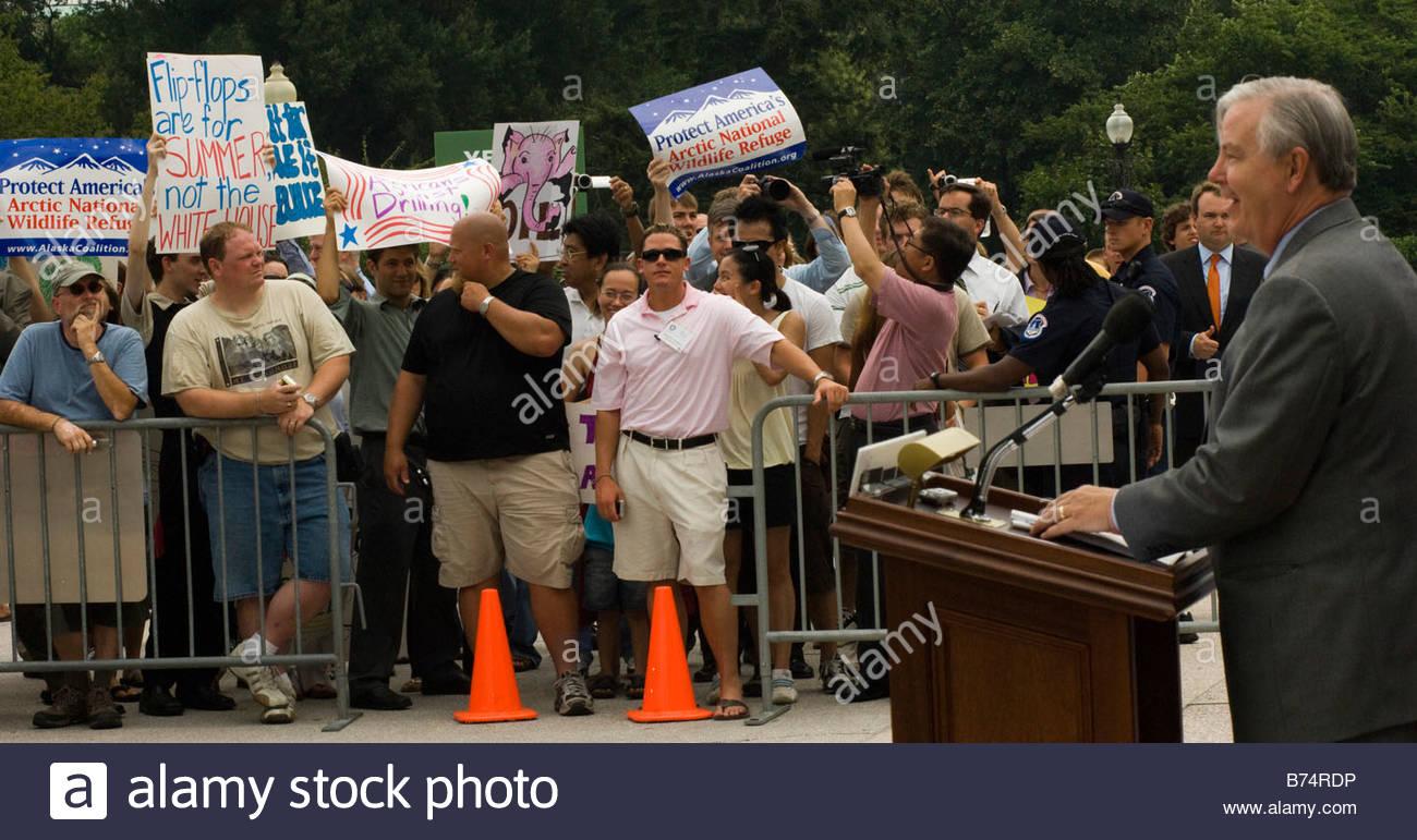 WASHINGTON DC July 23 House Energy Ranking Member Joe L Barton R Texas With  Other House