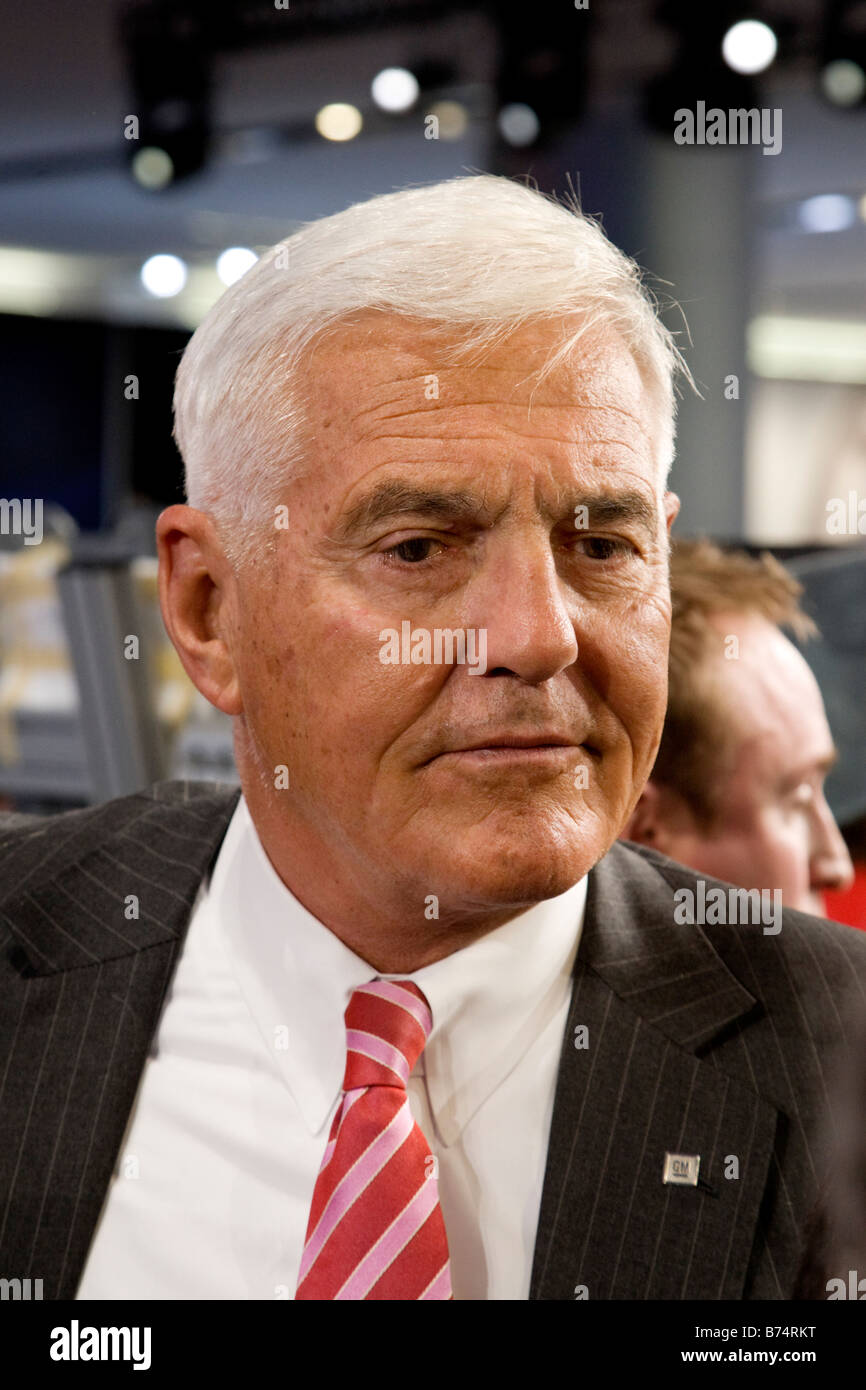 Bob Lutz Vice Chairman of Global Product Development at General Motors - Stock Image