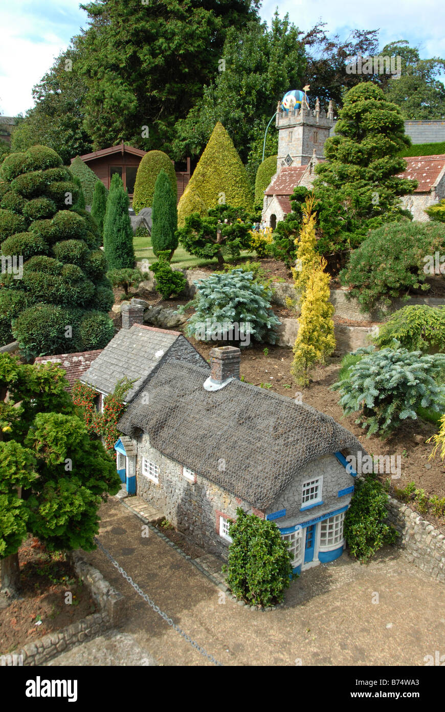 A model village of Godshill in Godshill, on the Isle of Wright,Britian - Stock Image