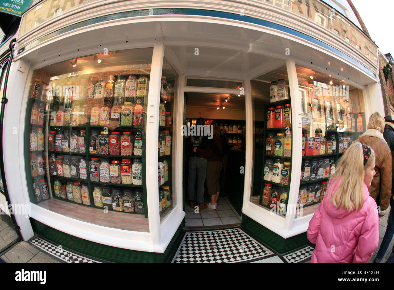 A Classic English sweetshop Britcher & Rivers Ltd ,109 High Street, Rye, East Sussex - Stock Image