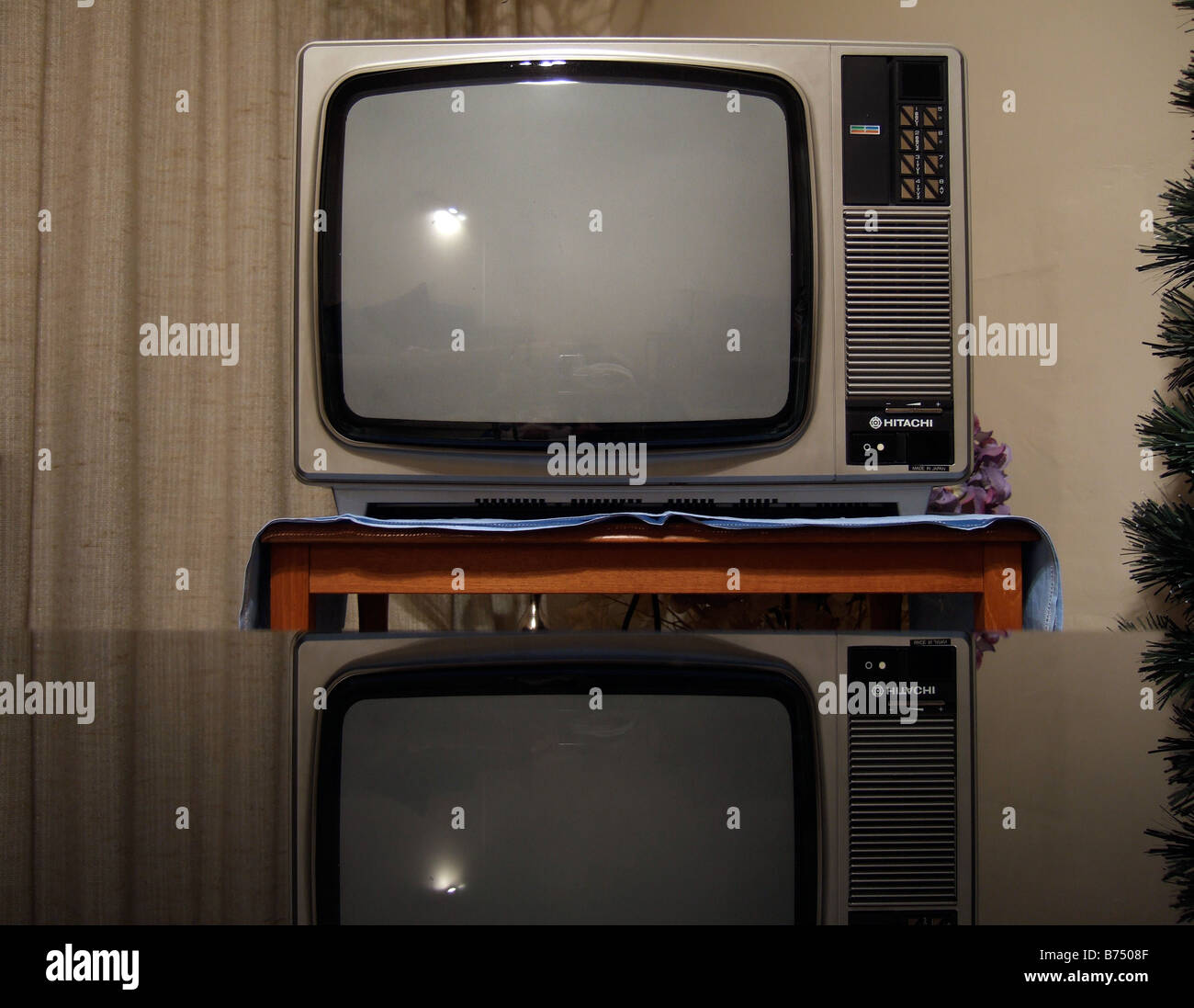 An old 1970's TV - Stock Image