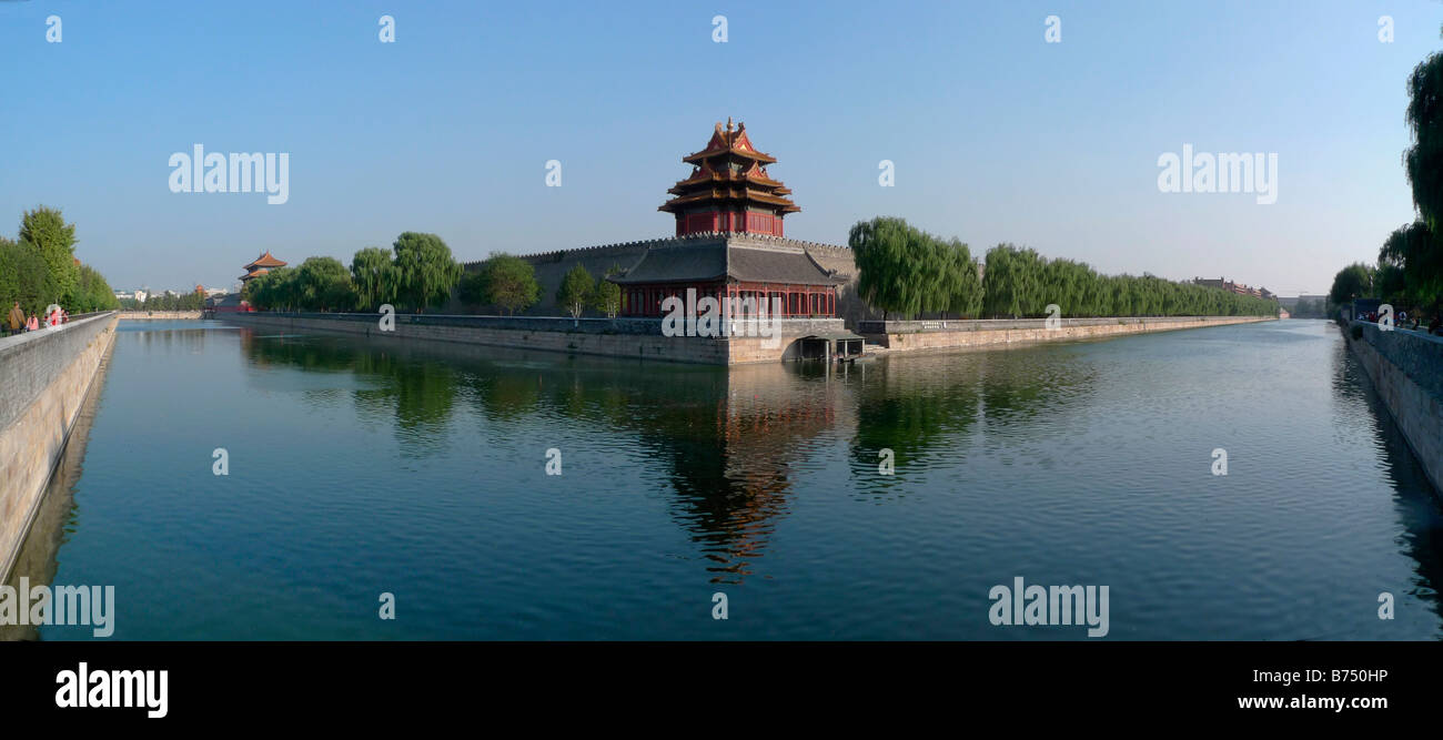 The Northwest Corner The Forbidden City Beijing P R of China - Stock Image