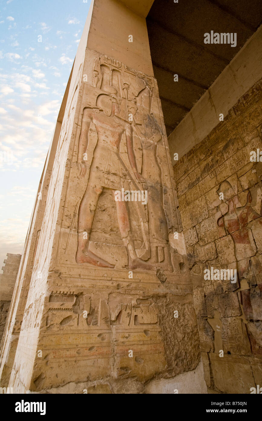 The Temple of Seti I at Abydos, Nile Valley Egypt - Stock Image
