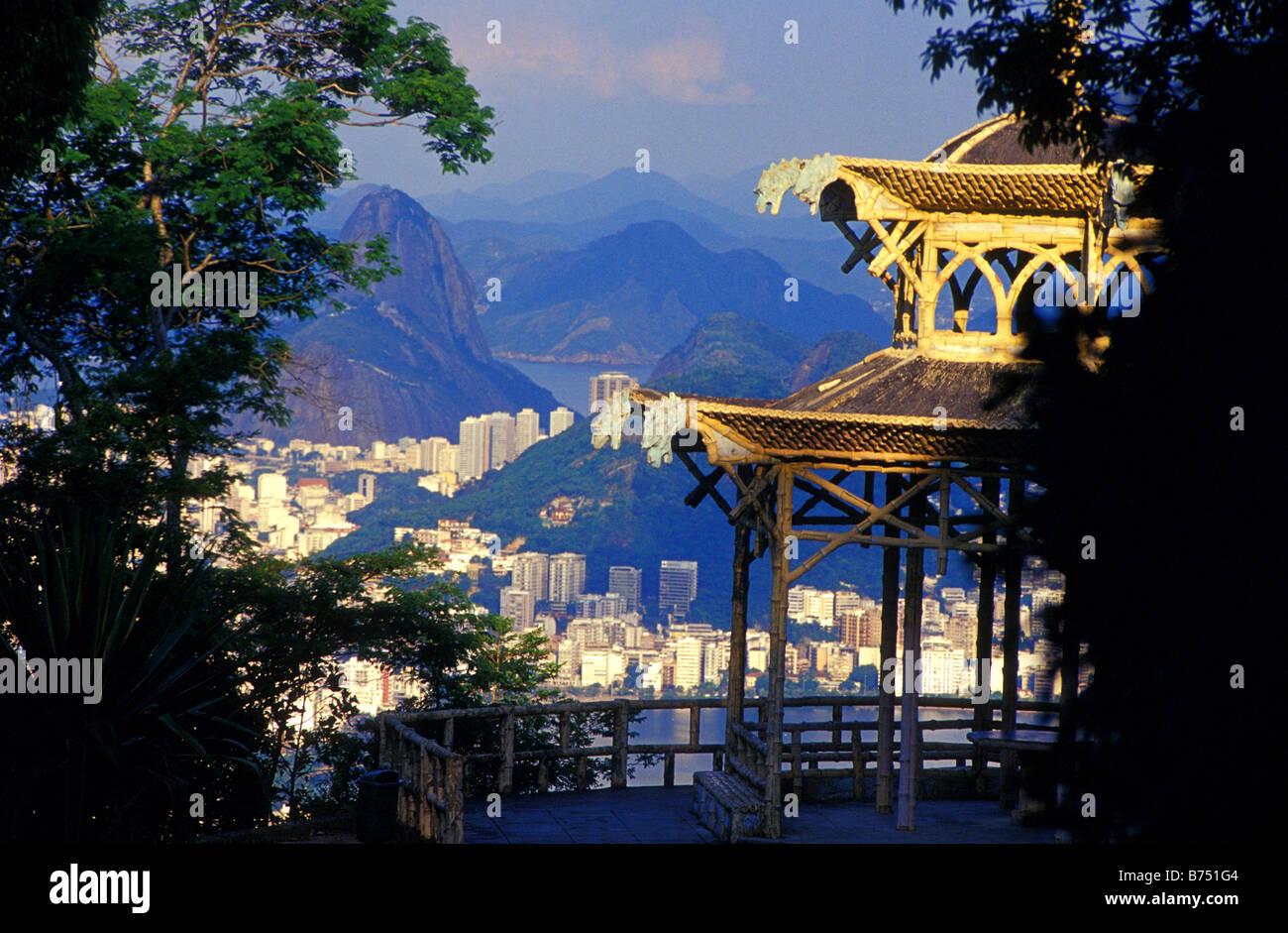 rio from vista chinesa rio de janeiro brazil Stock Photo