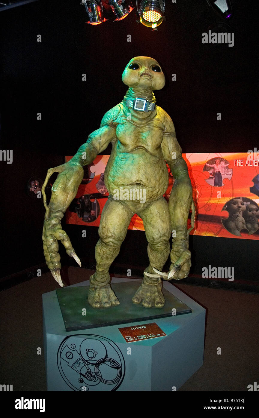 slitheen a (dr.who) character at an exhibition at lands end in cornwall,uk - Stock Image