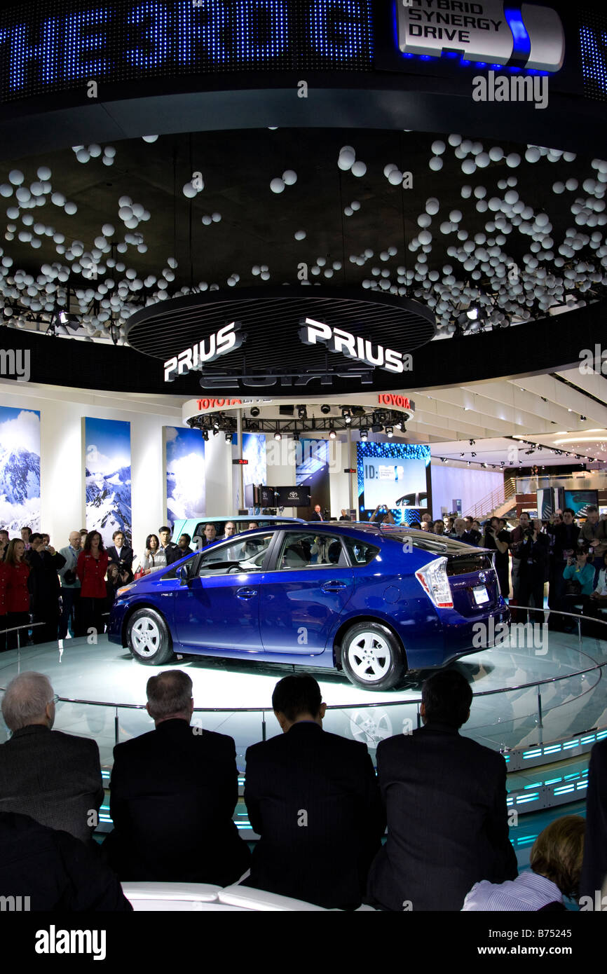 New Toyota Prius is unveiled at the North American International Auto Show in Detroit Michigan January 12 2009 NAIAS - Stock Image