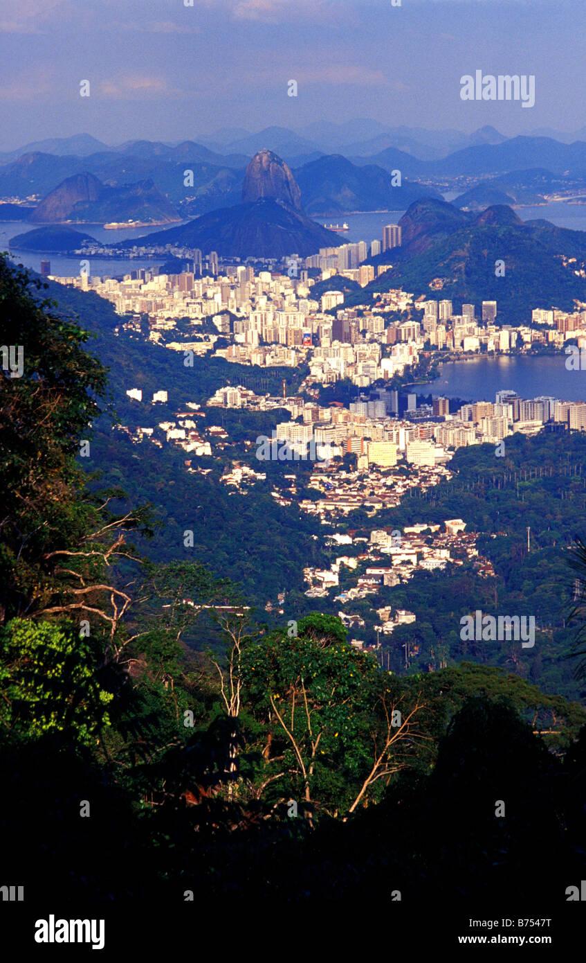 view of rio from vista chinesa rio de janeiro brazil Stock Photo