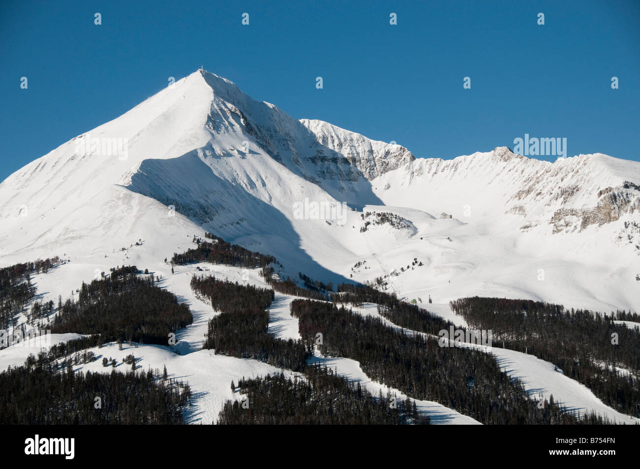 big mountain ski resort montana stock photos & big mountain ski
