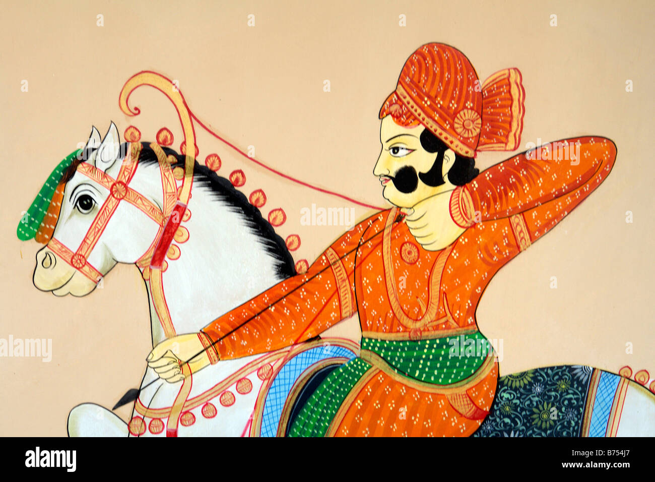 Traditional Indian Man With Bow And Arrow Hunting Wall Painting Or Stock Photo Alamy