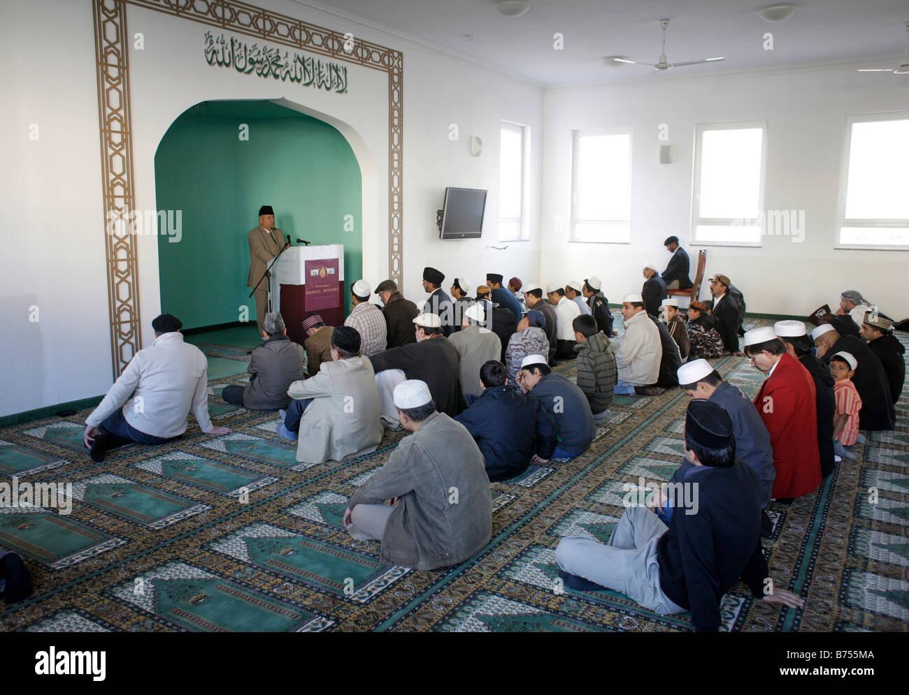 Friday prayer at Khadija Mosque - Stock Image