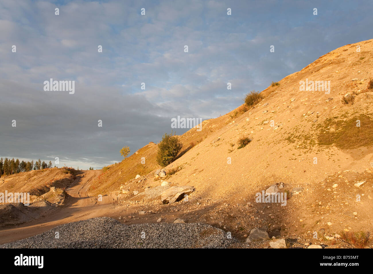 Road in a sandpit - Stock Image