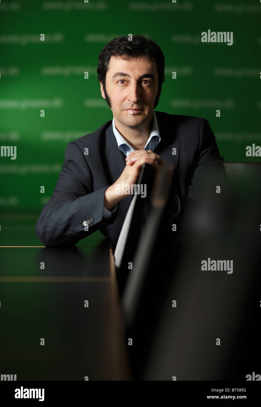 Cem OEZDEMIR Chairman of Alliance 90 The Greens - Stock Image