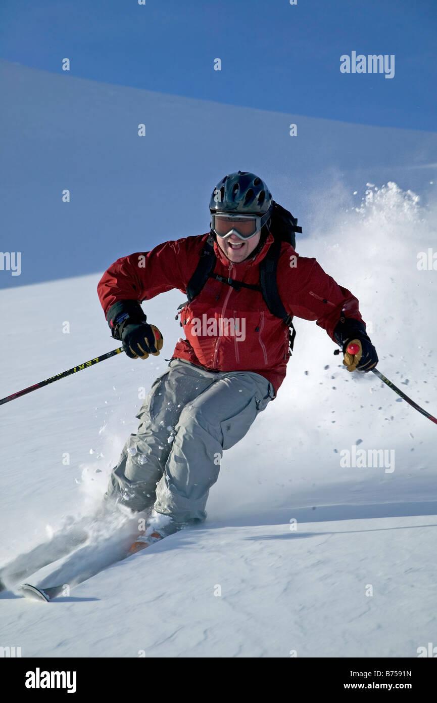 Heli-skiing, Terrace, BC, Canada - Stock Image
