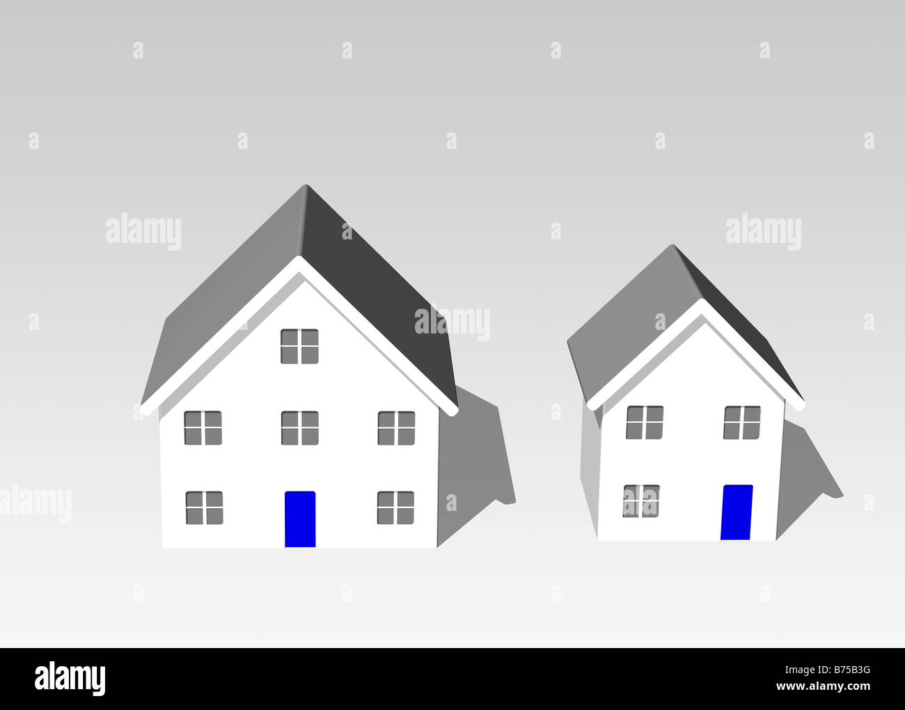 Two houses - Stock Image