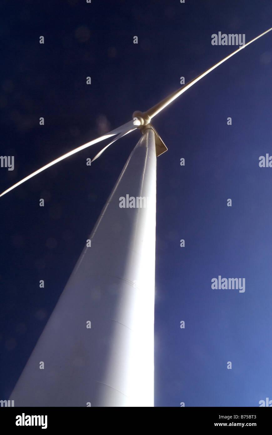Low angle wind turbine - Stock Image