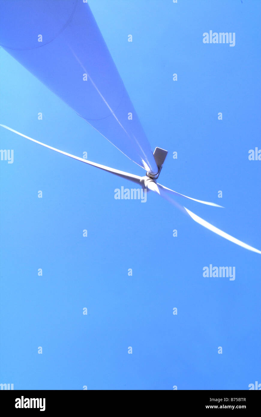 Extreme low angle wind turbine - Stock Image