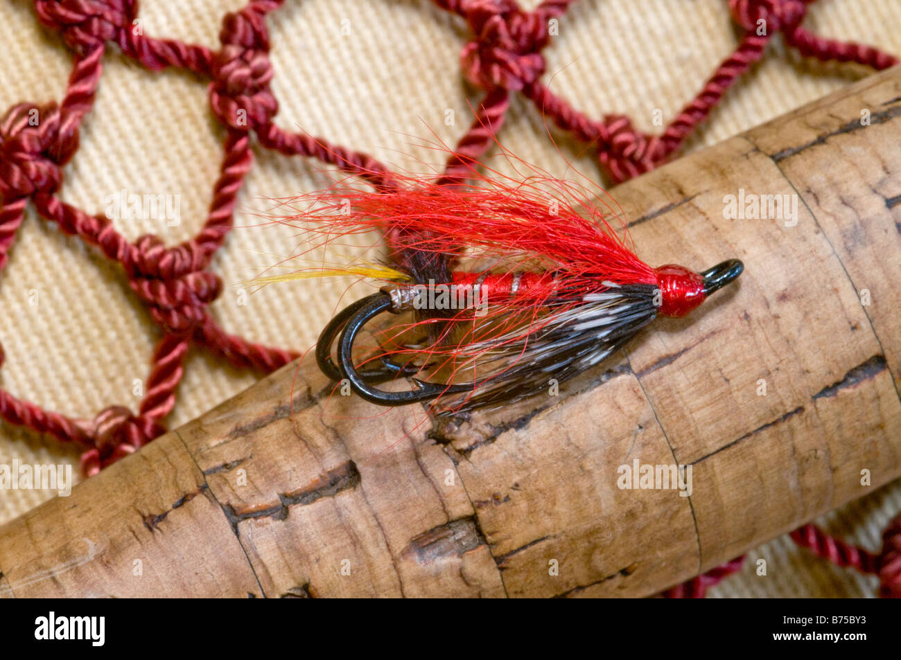 fishing fly  for trout and salmon U.K. England - Stock Image