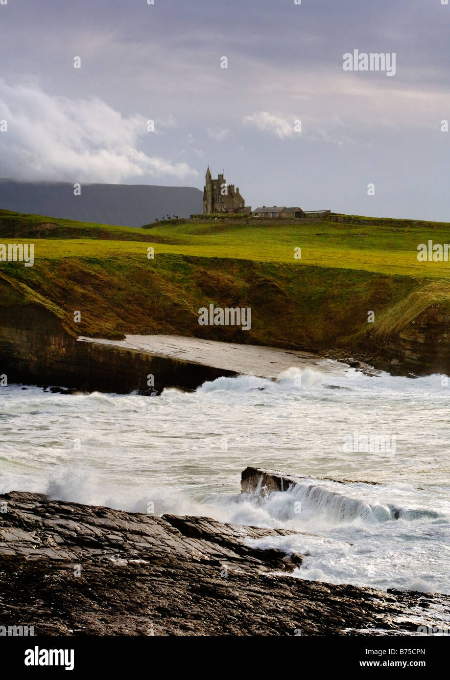 Classiebawn Castle, in County Sligo, on the west coast of Ireland and once the home of Lord Mountbatten. - Stock Image