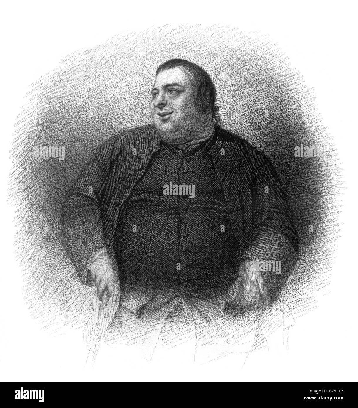 Portrait of Francis Grose FSA by Nathaniel Dance RA 1735 1811 19th Century Illustration - Stock Image