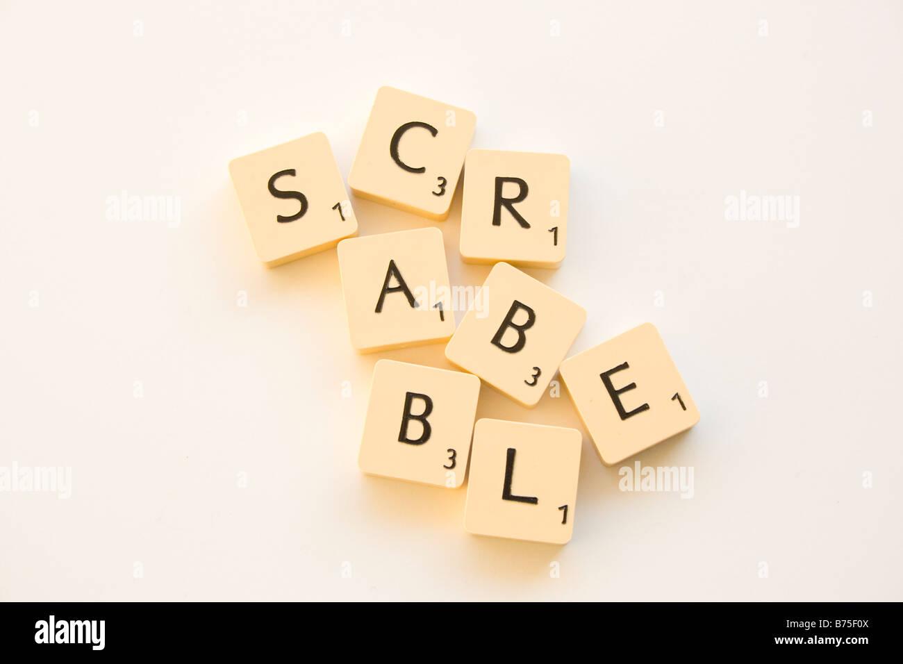 Scrabble Letter Tiles - Stock Image