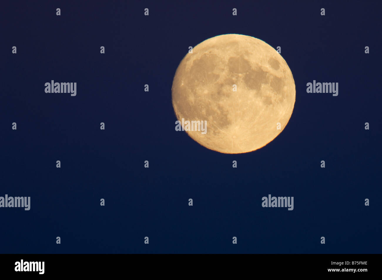 rising full moon - Stock Image