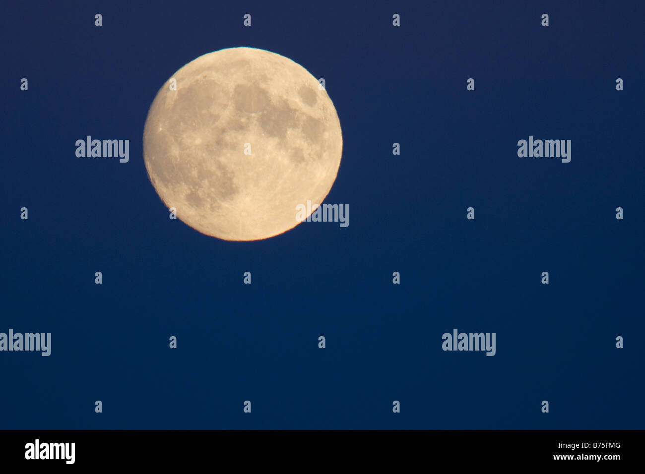 rising fullmoon luminary - Stock Image
