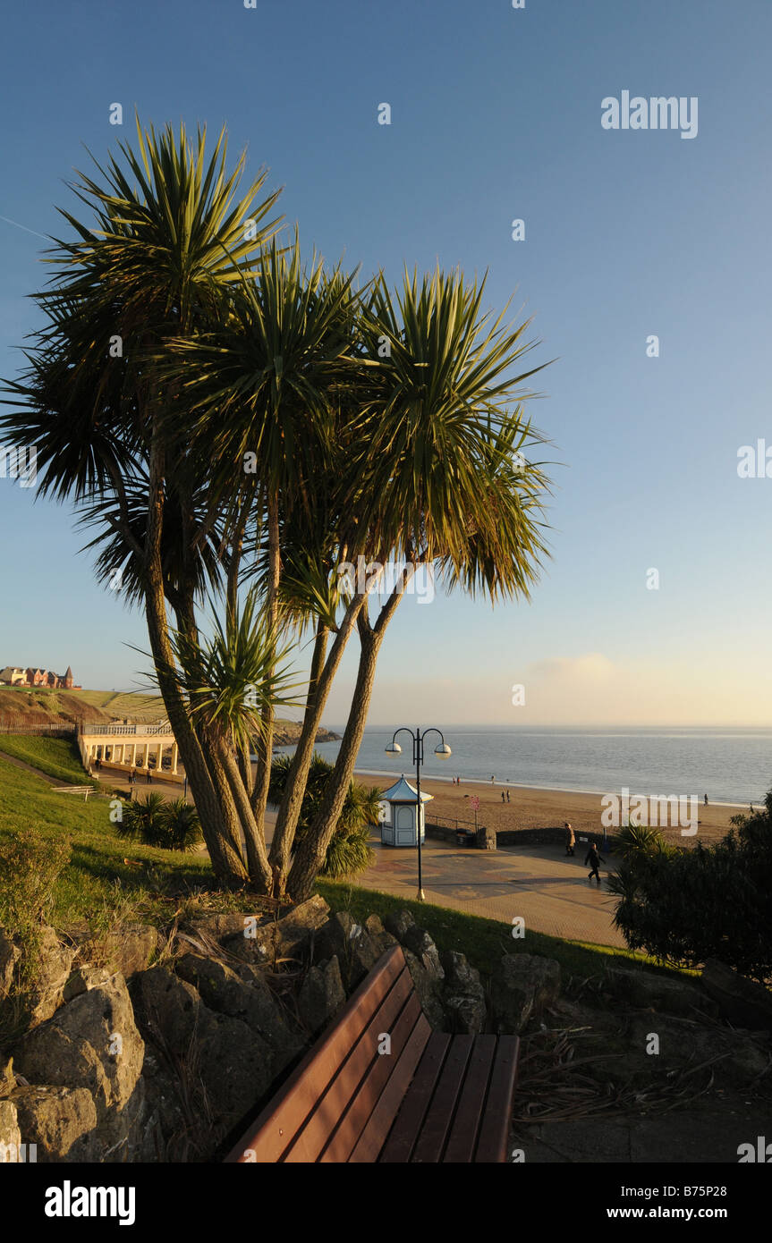 Beach and headland Barry Island Vale of Glamorgan South Wales Stock Photo