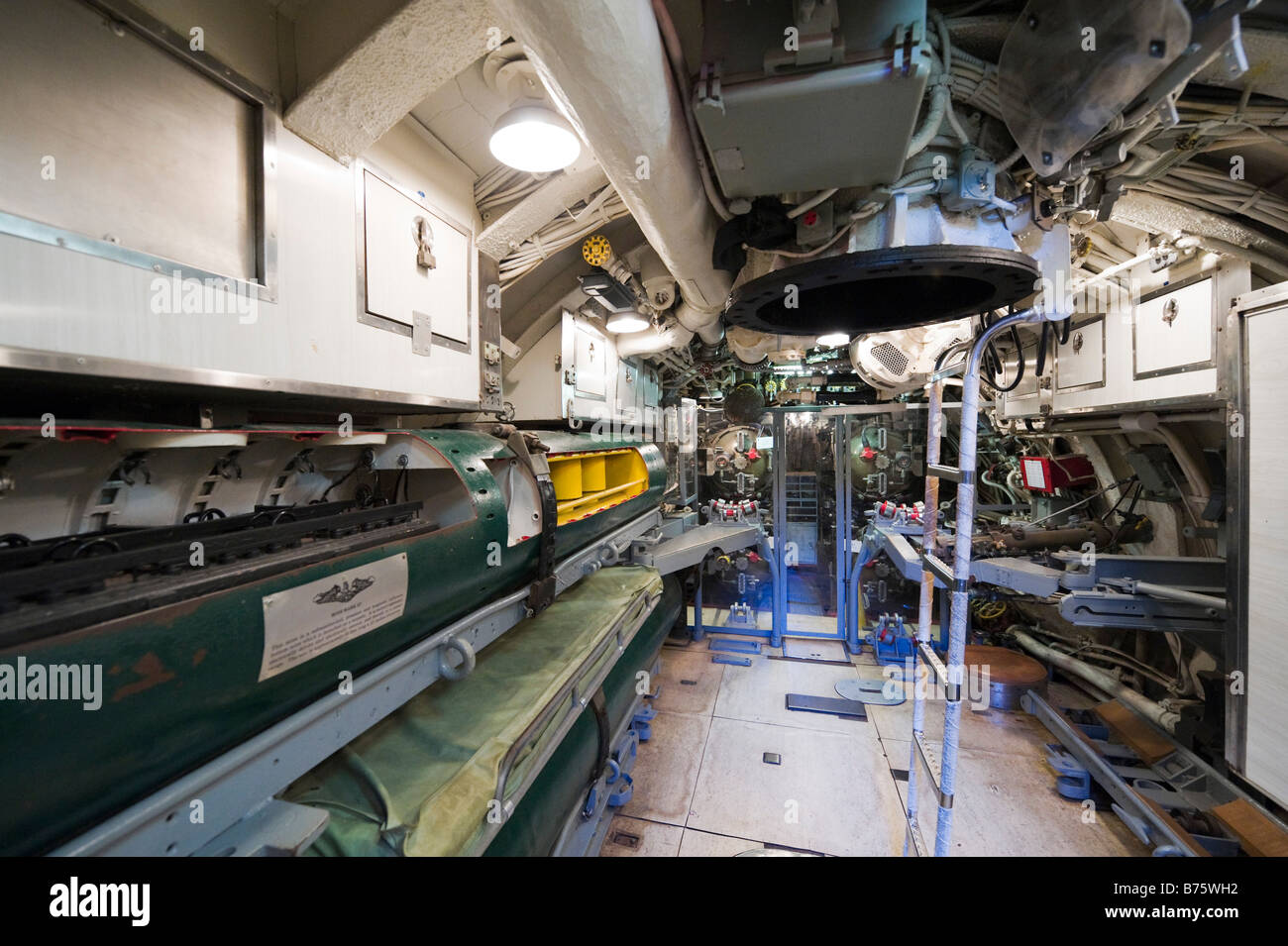 Aft Torpedo Room And Sleeping Quarters Of The Submarine