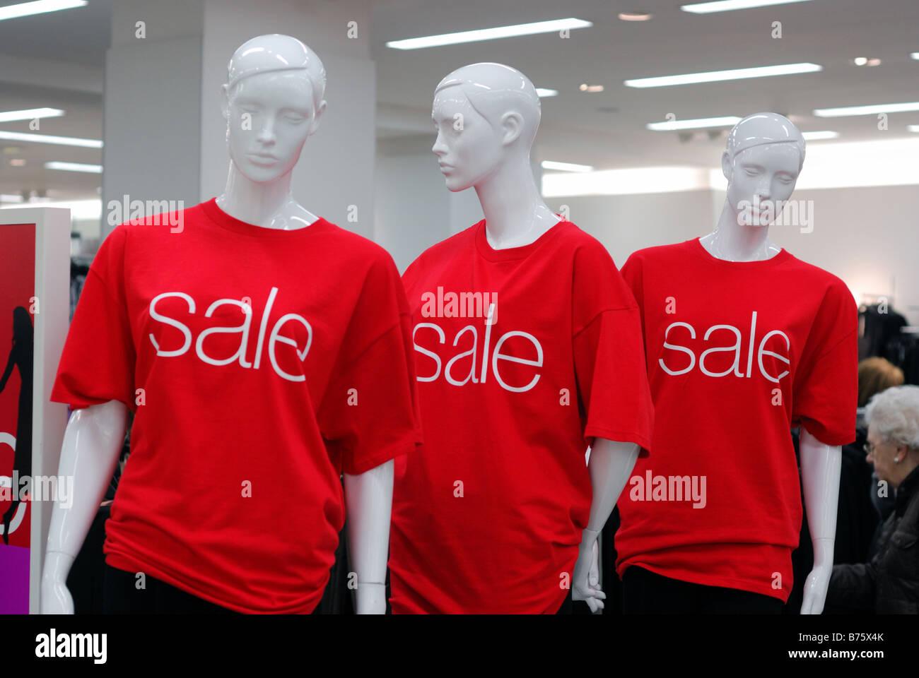 Three Mannekins Advertising January Sales Marks Spencers Belfast