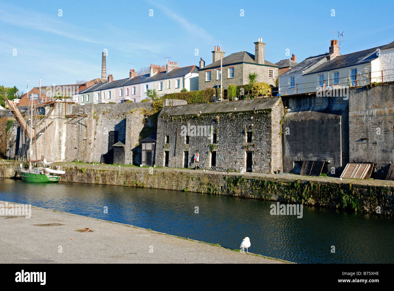 the old harbour building at charlestown,cornwall,uk - Stock Image