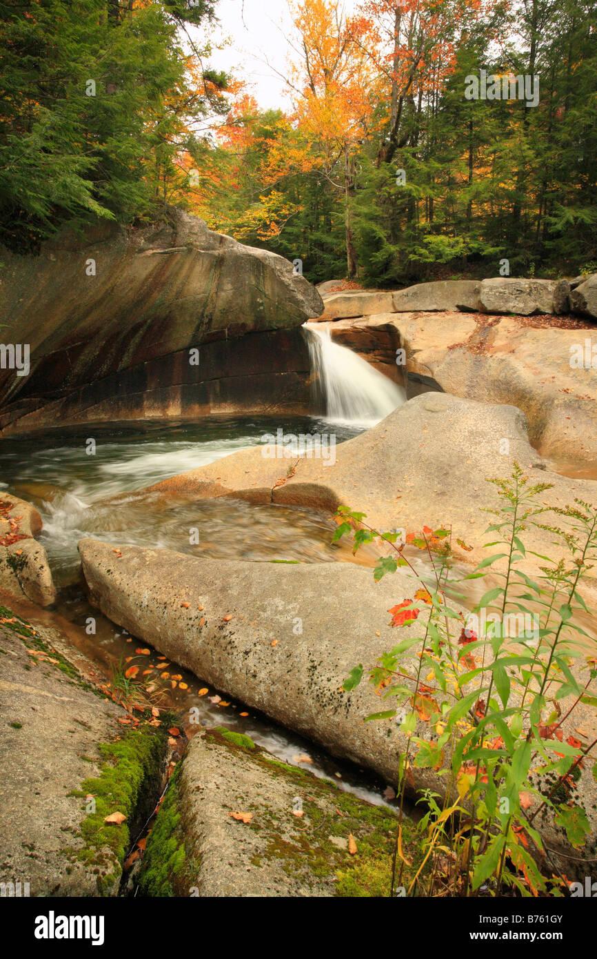 The Basin, Franconia Notch, White Mountains, New Hampshire, USA Stock Photo