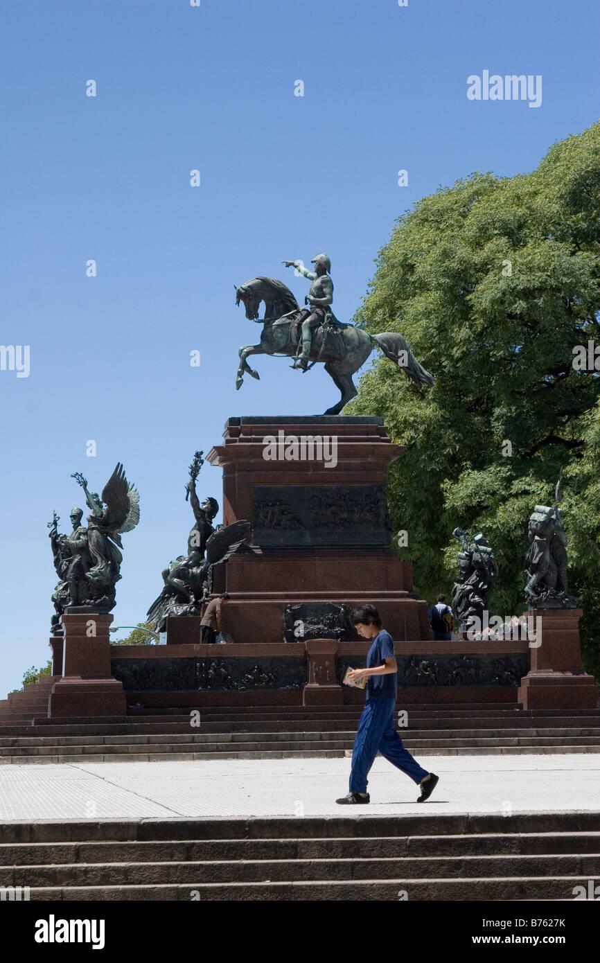 Statue of General San Martin Plaza San Martin Buenos Aires Argentina Stock Photo