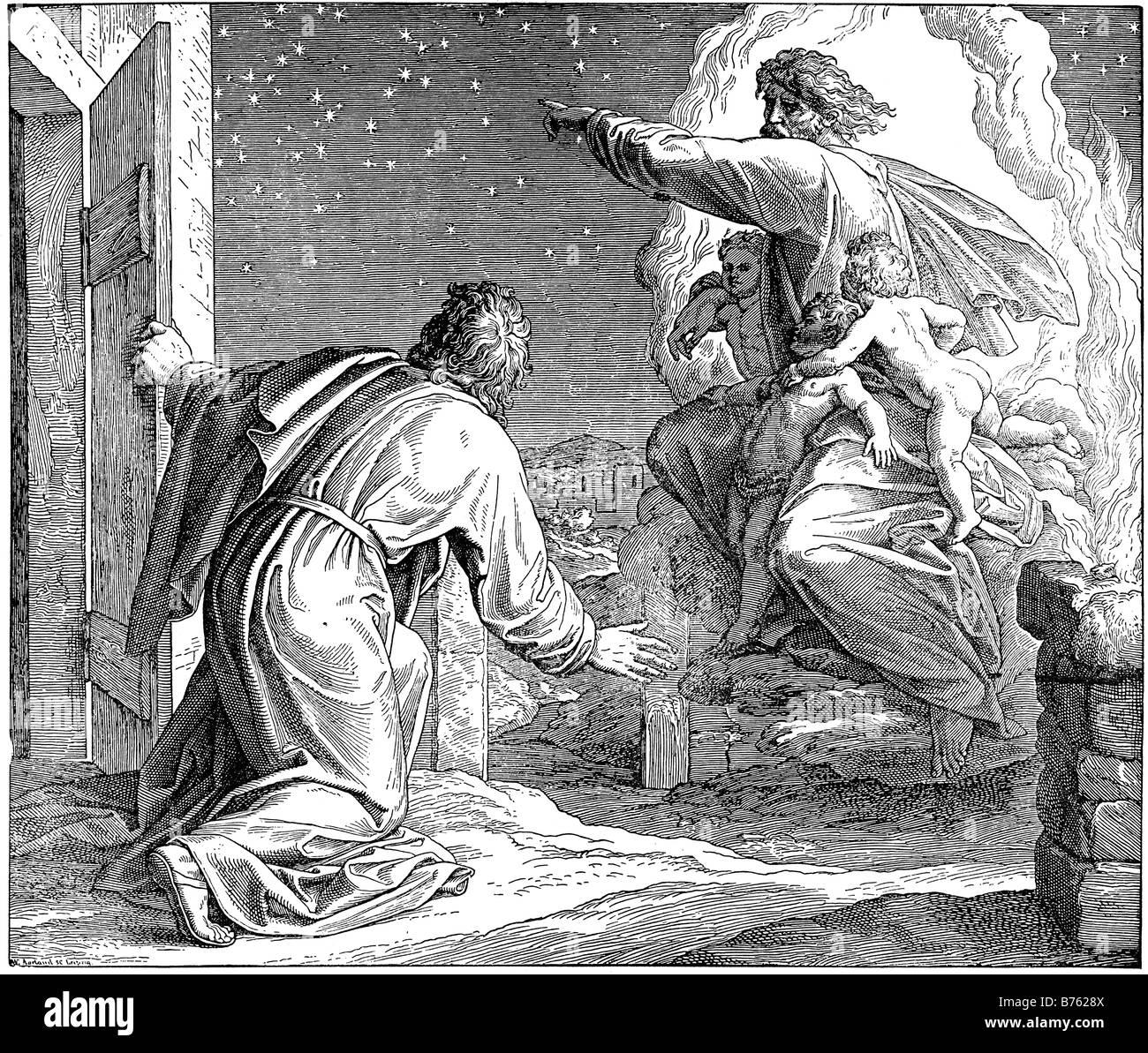 Gods promise to Abraham - Stock Image