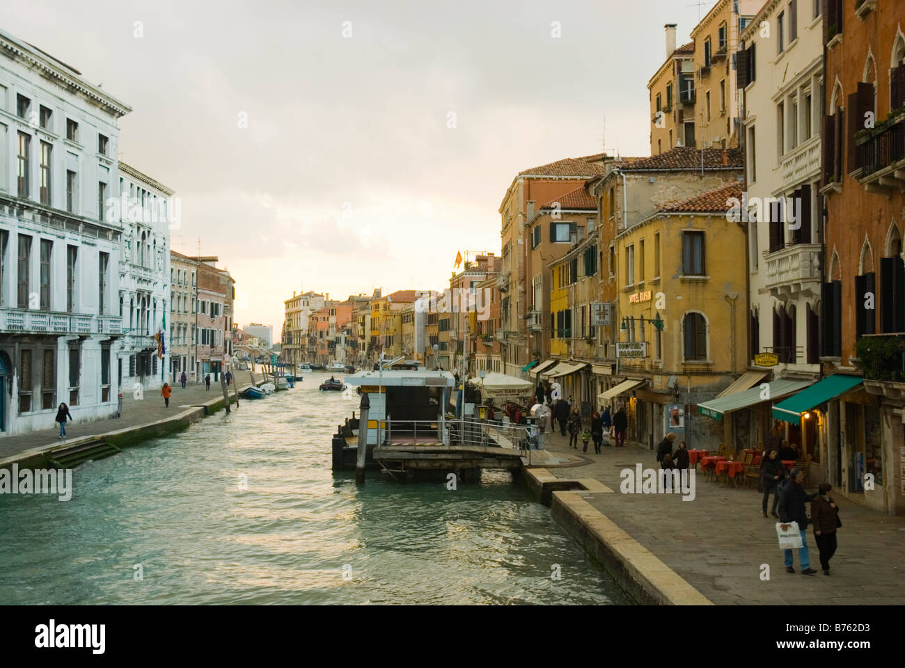 Along Canale di Cannaregio in Venice Italy Europe - Stock Image