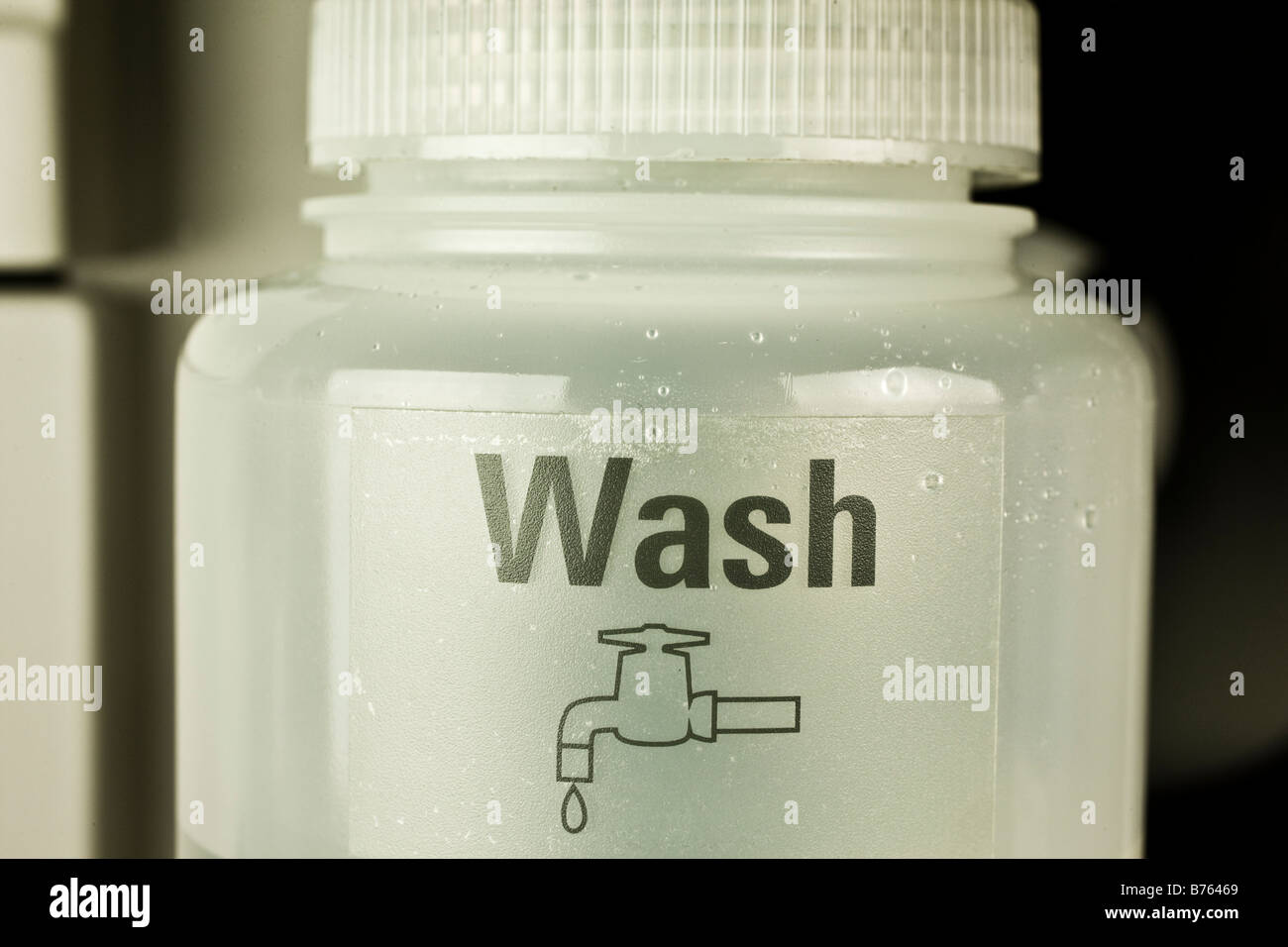Wash collection vessel for atomic absorption autosampler, Stock Photo
