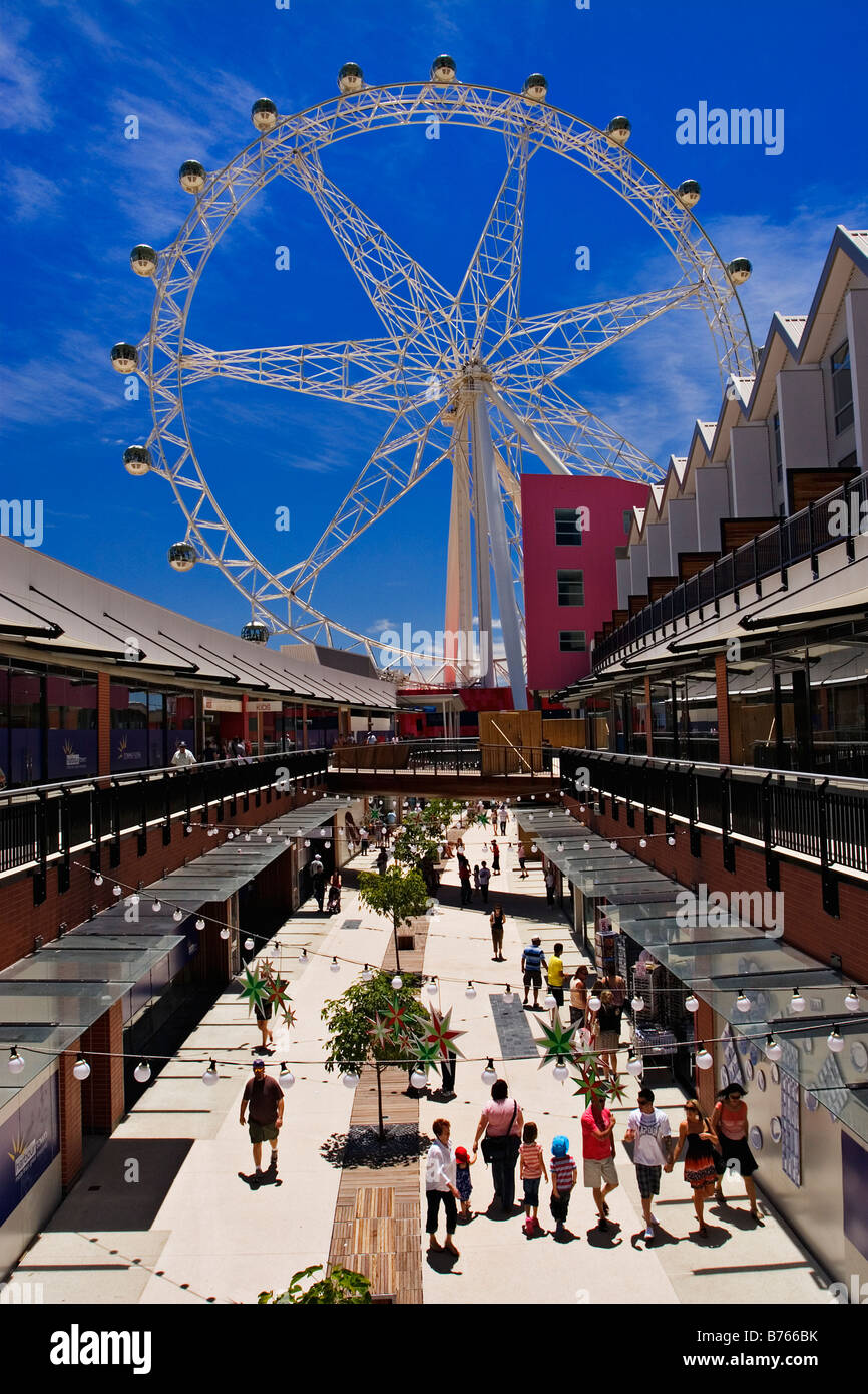 Melbourne Docklands /  Residential and Shopping in Harbour Town.Melbourne Victoria Australia. - Stock Image