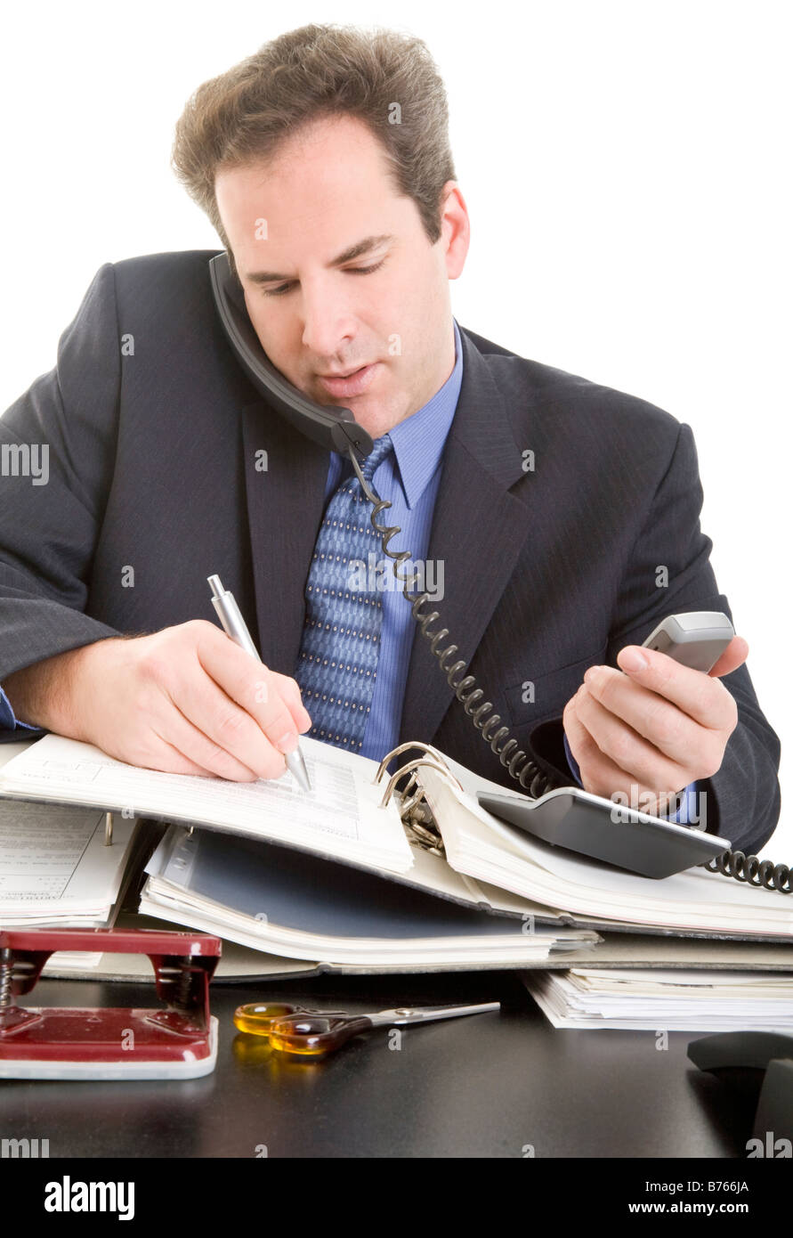 businessman working - Stock Image