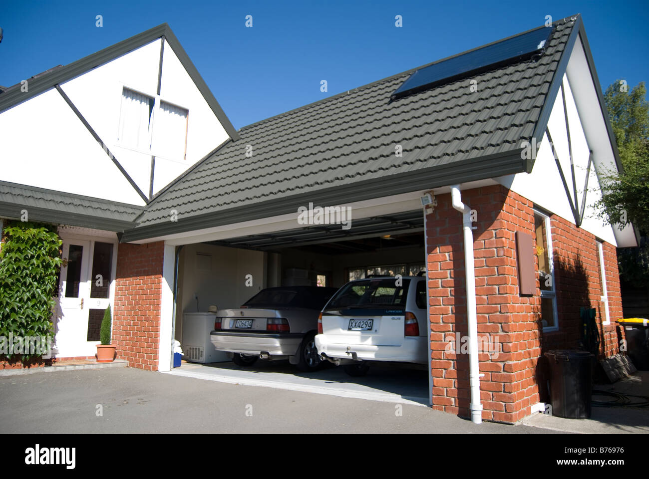Double garage with cars westmorland christchurch for Double garage plans free