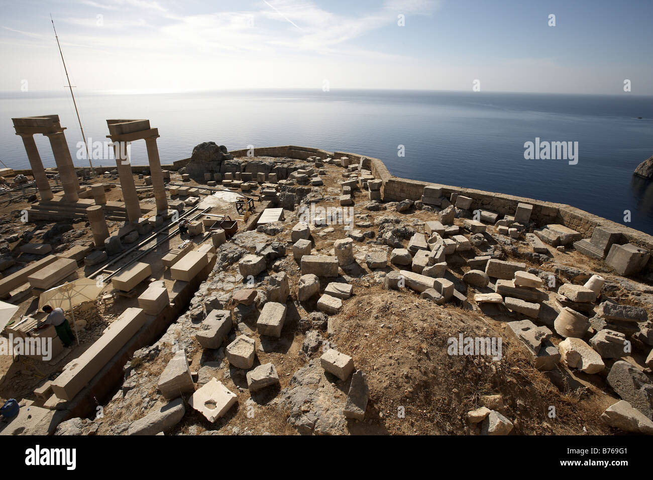Acropolis Lindos Island of Rhodes Greece - Stock Image
