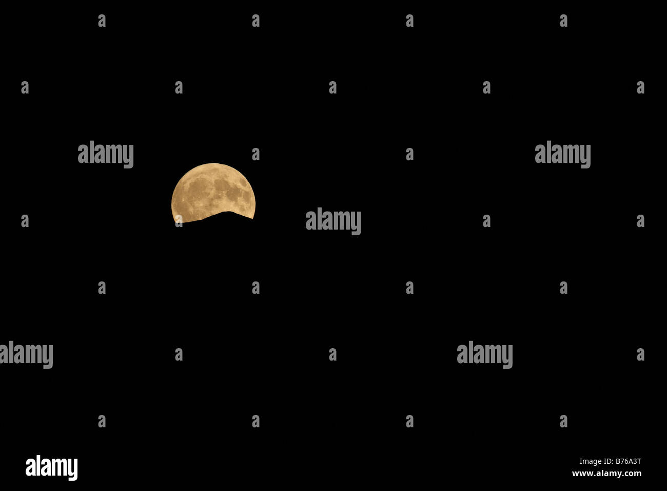 full moon ticino tessin switzerland europe night sky swiss moon light - Stock Image