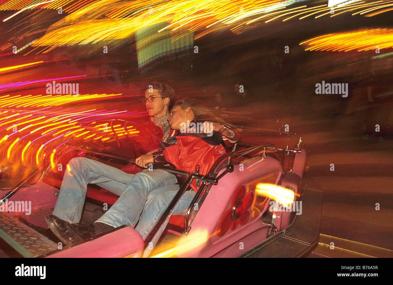 october festival fairground ride munich folk festival bavaria germany sight Stock Photo