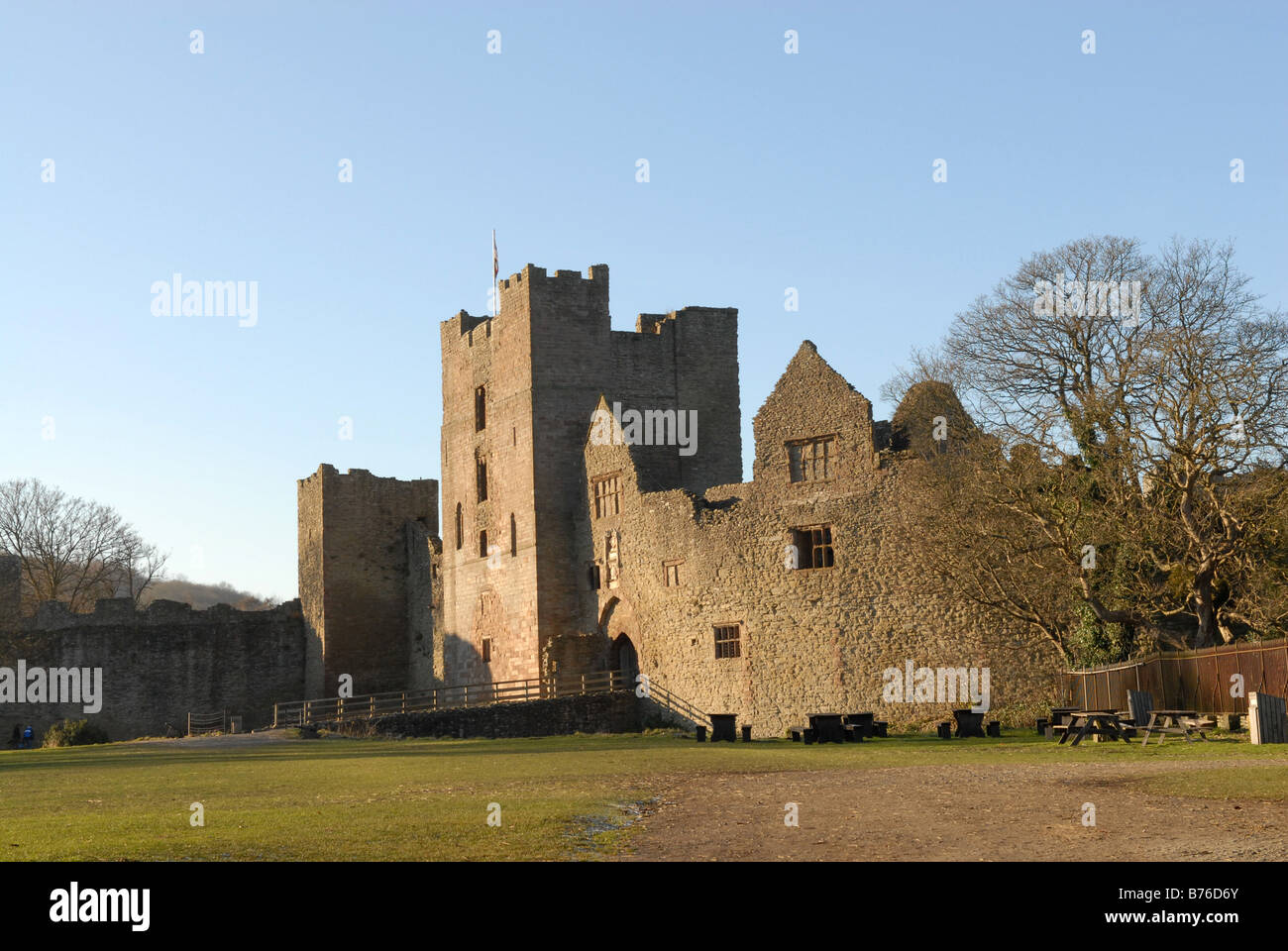 Ludlow Castle in Shropshire England bhz - Stock Image